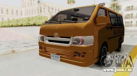 Toyota Hiace School Bus pour GTA San Andreas vue de droite