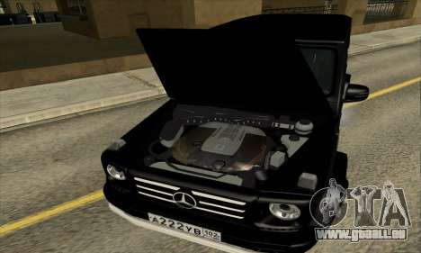 Mercedes G55 Kompressor für GTA San Andreas obere Ansicht