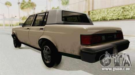 GTA 4.5 Greenwood v.0.9 pour GTA San Andreas sur la vue arrière gauche