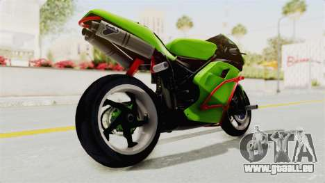 Ducati 998R Modif Stunt für GTA San Andreas zurück linke Ansicht