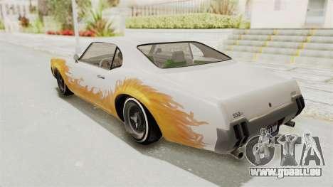 GTA 5 Declasse Sabre GT2 B pour GTA San Andreas vue de dessus