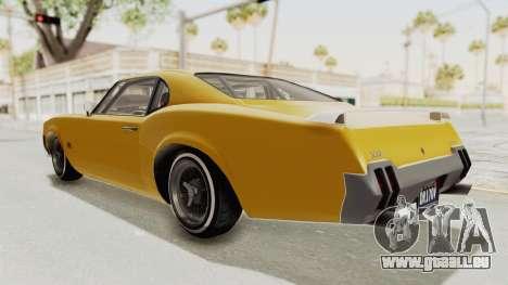 GTA 5 Declasse Sabre GT2 B IVF pour GTA San Andreas laissé vue