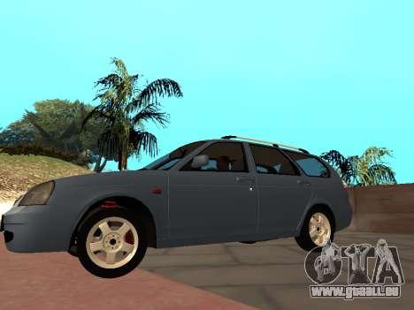Lada Priora IVF pour GTA San Andreas sur la vue arrière gauche