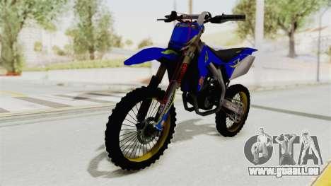 Suzuki RM-Z 450 Gendarmerie v0.2 für GTA San Andreas