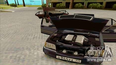 Mercedez-Benz W140 für GTA San Andreas zurück linke Ansicht