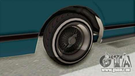 GTA 5 Dundreary Virgo Classic Custom v3 pour GTA San Andreas vue intérieure