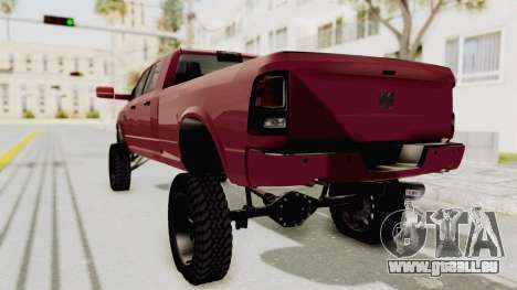 Dodge Ram Megacab Long Bed pour GTA San Andreas laissé vue