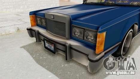 GTA 5 Dundreary Virgo Classic Custom v1 IVF pour GTA San Andreas vue de dessus