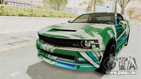 GTA 5 Vapid Dominator v2 SA Style pour GTA San Andreas roue