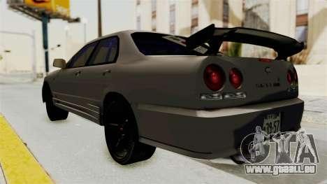 Nissan Skyline ER34 pour GTA San Andreas laissé vue