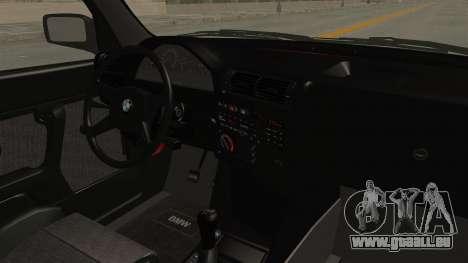 BMW M3 E30 Camber Low pour GTA San Andreas vue intérieure