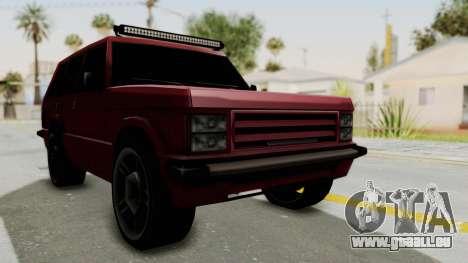 Huntley LR pour GTA San Andreas vue de droite