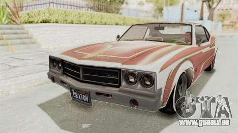 GTA 5 Declasse Sabre GT2 B pour GTA San Andreas vue de dessous