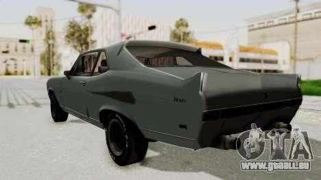 Chevrolet Nova 1969 StreetStyle pour GTA San Andreas laissé vue