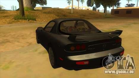 Mazda RX7 S Spirit R pour GTA San Andreas sur la vue arrière gauche