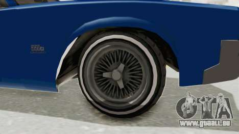 GTA 5 Declasse Sabre GT2 A für GTA San Andreas Rückansicht