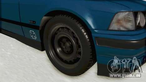 BMW 325i E36 pour GTA San Andreas vue arrière