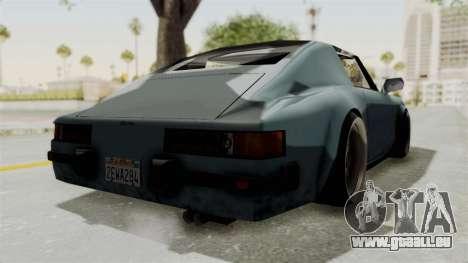 Comet 911 GermanStyle pour GTA San Andreas sur la vue arrière gauche