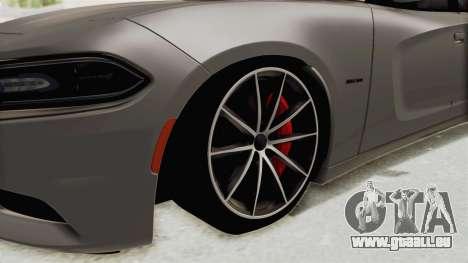 Dodge Charger RT 2015 pour GTA San Andreas vue arrière