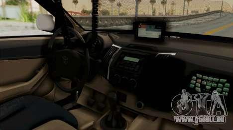 Toyota Fortuner JPJ White pour GTA San Andreas vue arrière