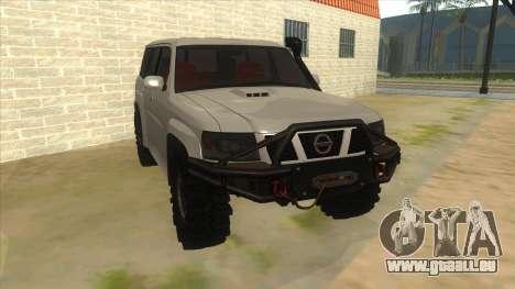 Nissan Patrol Y61 für GTA San Andreas Rückansicht