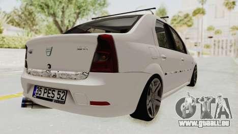 Dacia Logan 2013 pour GTA San Andreas sur la vue arrière gauche