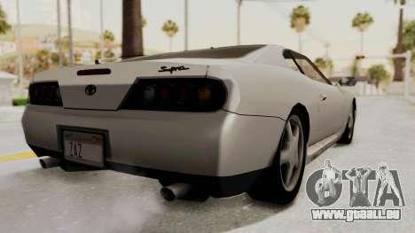 Jester Supra pour GTA San Andreas laissé vue