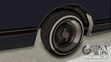 GTA 5 Dundreary Virgo Classic Custom v2 IVF für GTA San Andreas Rückansicht
