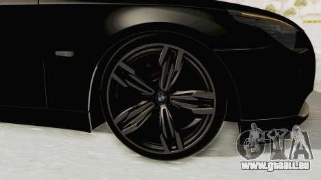 BMW 530D E60 pour GTA San Andreas vue arrière