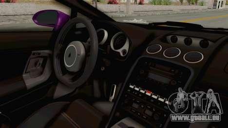 Lamborghini Gallardo 2015 Liberty Walk LB pour GTA San Andreas vue intérieure