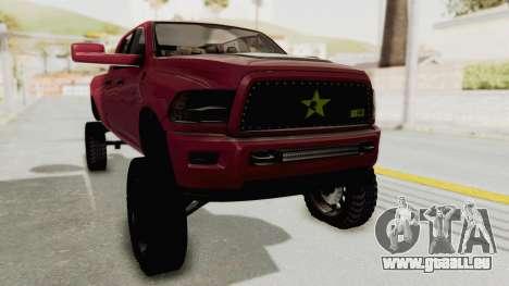 Dodge Ram Megacab Long Bed pour GTA San Andreas vue de droite