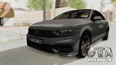 Volkswagen Passat B8 2016 RLine HQLM pour GTA San Andreas