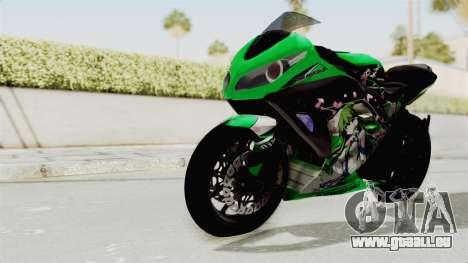 Kawasaki Ninja 250FI Kochiya Sanae Itasha pour GTA San Andreas