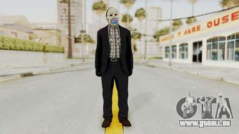 Joker Heist Outfit GTA 5 Style für GTA San Andreas zweiten Screenshot