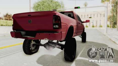 Dodge Ram Megacab Long Bed pour GTA San Andreas sur la vue arrière gauche