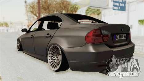 BMW 330i E92 Camber pour GTA San Andreas sur la vue arrière gauche