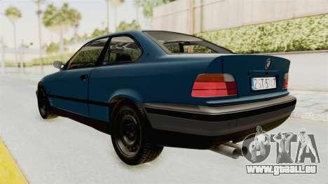 BMW 325i E36 pour GTA San Andreas laissé vue
