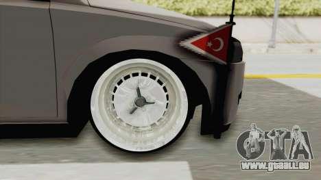 Opel Corsa für GTA San Andreas Rückansicht