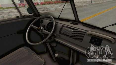 Volkswagen T1 Station Wagon De Luxe Type2 1963 für GTA San Andreas Innenansicht