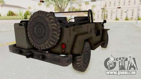 MGSV Jeep No LMG pour GTA San Andreas laissé vue