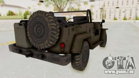 MGSV Jeep No LMG für GTA San Andreas linke Ansicht
