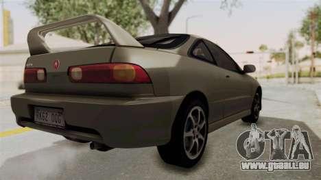 Acura Integra Fast N Furious pour GTA San Andreas laissé vue