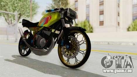 Yamaha RX King 200 CC Killing Ninja pour GTA San Andreas sur la vue arrière gauche