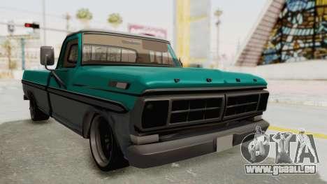 Ford F-150 Black Whells Edition für GTA San Andreas rechten Ansicht