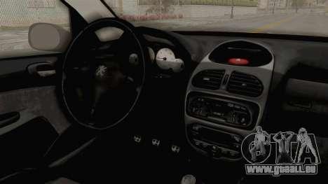Peugeot 206 für GTA San Andreas Innenansicht