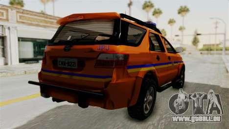 Toyota Fortuner JPJ Orange pour GTA San Andreas vue de droite