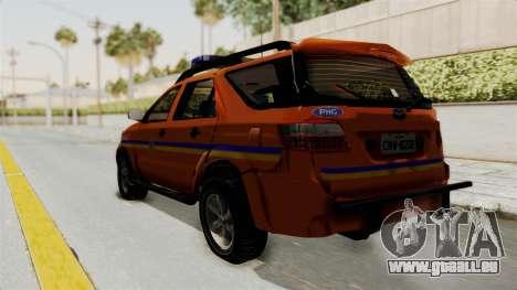Toyota Fortuner JPJ Orange pour GTA San Andreas laissé vue
