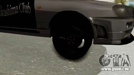 Nissan Skyline ER34 für GTA San Andreas Rückansicht