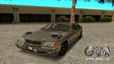 Mercedez-Benz W140 für GTA San Andreas Rückansicht