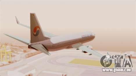 Boeing 737-800 Korean Air für GTA San Andreas rechten Ansicht